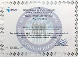 Türkiye İş Kurumu  Özel İstihdam Bürosu İzin Belgesi  Türkiye İş Kurumu  Özel İstihdam Bürosu İzin Belgesi Yeni izin belgesi2017 270x200